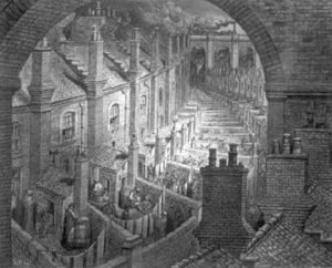 Sketch drawing of Dore, London