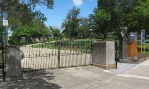 Garden entry gates restored in 2009 as part of the Brimbank Council's restoration program
